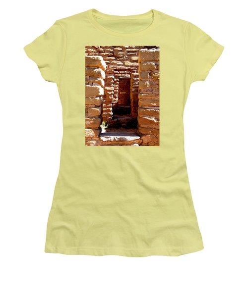 Women's T-Shirt (Junior Cut) featuring the photograph Ancient Doorways by Alan Socolik