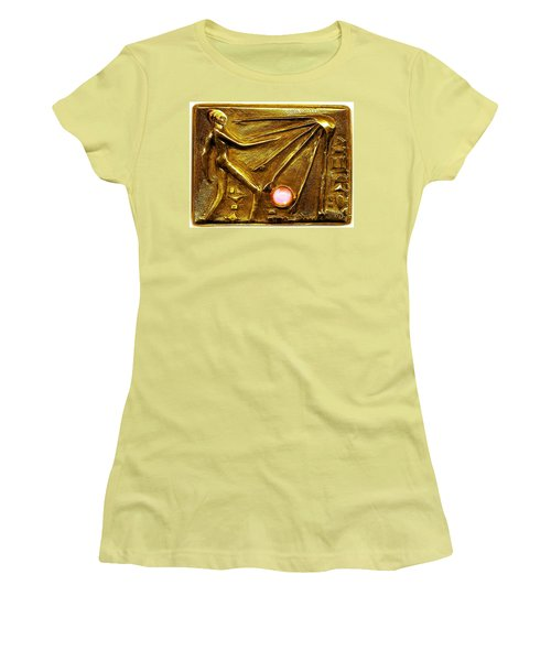 Women's T-Shirt (Junior Cut) featuring the relief Sun God Worship  by Hartmut Jager