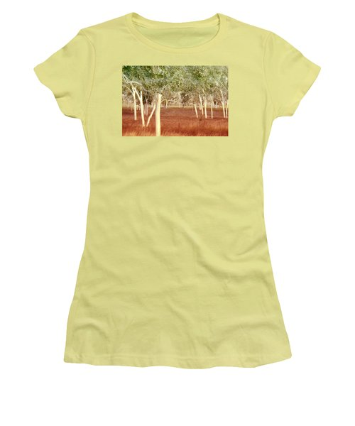 And The Trees Danced Women's T-Shirt (Junior Cut) by Holly Kempe