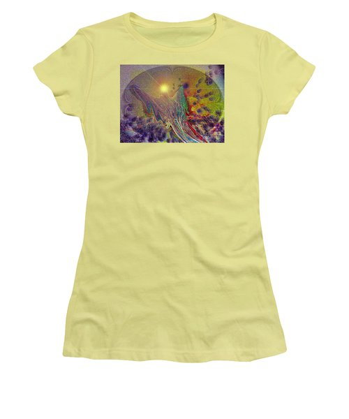 Women's T-Shirt (Junior Cut) featuring the digital art Angel Taking Flight by Alison Caltrider