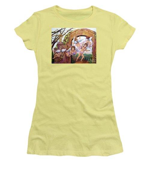 Angelika Women's T-Shirt (Junior Cut) by Linda Simon