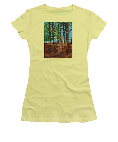 Women's T-Shirt (Junior Cut) featuring the painting Angle In Idyllwild by Cassie Sears