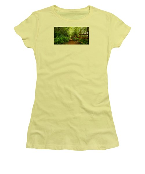 Appalachian Trail At Newfound Gap Women's T-Shirt (Junior Cut) by Stephen Stookey