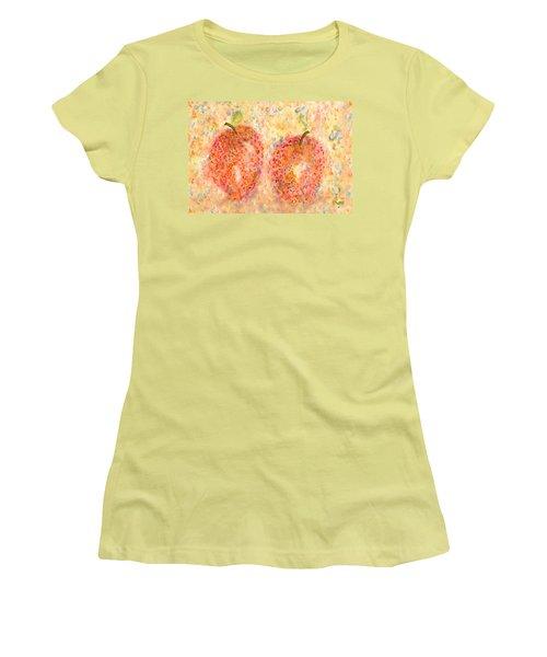 Apple Twins Women's T-Shirt (Junior Cut) by Paula Ayers