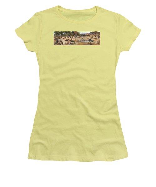 Arrival Women's T-Shirt (Junior Cut) by Rob Corsetti