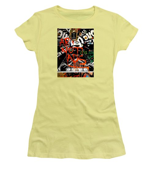 Women's T-Shirt (Junior Cut) featuring the photograph Art Not Ads by Newel Hunter