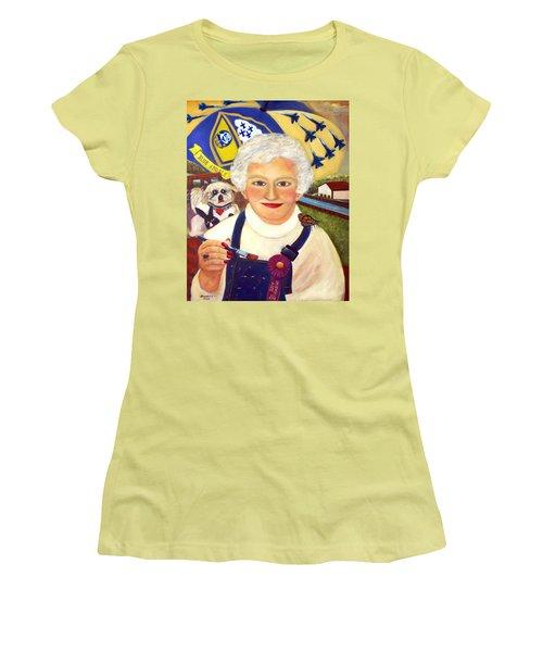Artist At Work Portrait Of Mary Krupa Women's T-Shirt (Junior Cut) by Bernadette Krupa