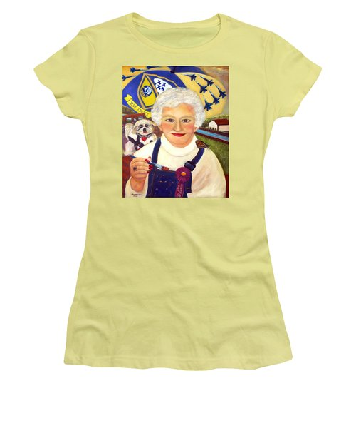 Artist At Work Portrait Of Mary Krupa Women's T-Shirt (Athletic Fit)