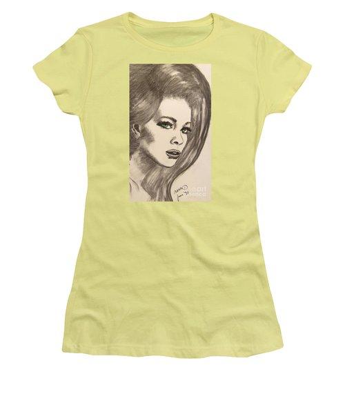 Women's T-Shirt (Junior Cut) featuring the drawing Ashton by Marianne NANA Betts
