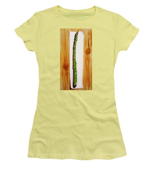 Asparagus Tasty Botanical Study Women's T-Shirt (Athletic Fit)