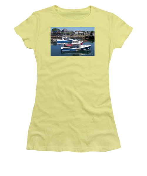 Colorful Boats Women's T-Shirt (Athletic Fit)