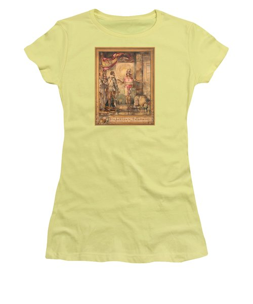 Women's T-Shirt (Junior Cut) featuring the painting Atahualpa's Ransom Helen Maitland Armstrong by Paul Ashby Antique Paintings