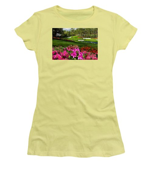 Augusta Azaleas 16th And 6th Women's T-Shirt (Junior Cut) by Tim Gilliland