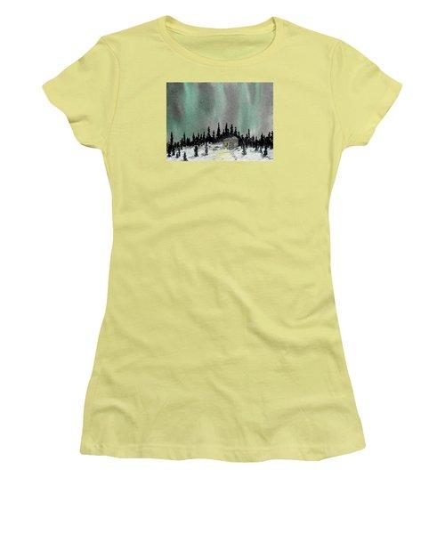 Aurora Magic - Dance Of The Lights Women's T-Shirt (Junior Cut) by R Kyllo