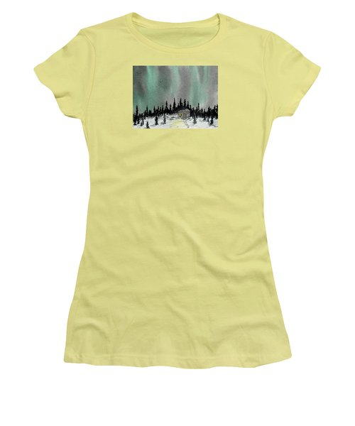Aurora Magic - Dance Of The Lights Women's T-Shirt (Athletic Fit)