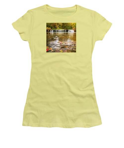 Autumn At Valley Creek Women's T-Shirt (Junior Cut) by Rima Biswas