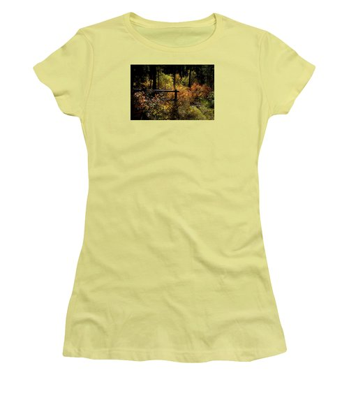 Women's T-Shirt (Junior Cut) featuring the photograph Autumn Colors 3 by Newel Hunter