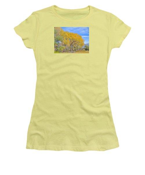 Autumn Colors Women's T-Shirt (Junior Cut) by Marilyn Diaz