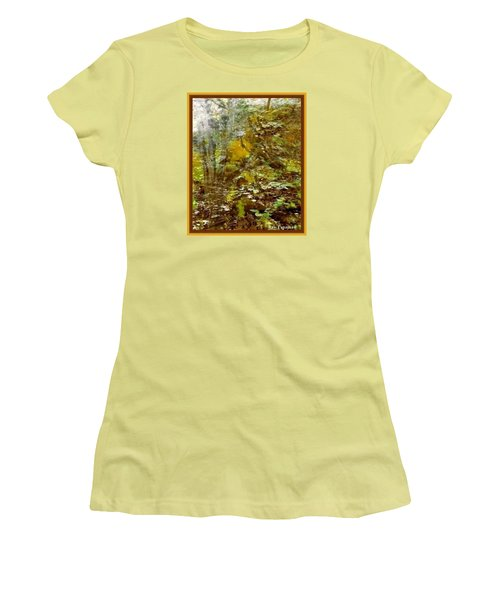 Women's T-Shirt (Junior Cut) featuring the mixed media Autumn Impressions by Ray Tapajna
