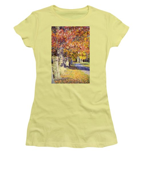 Autumn In Hyde Park Women's T-Shirt (Athletic Fit)