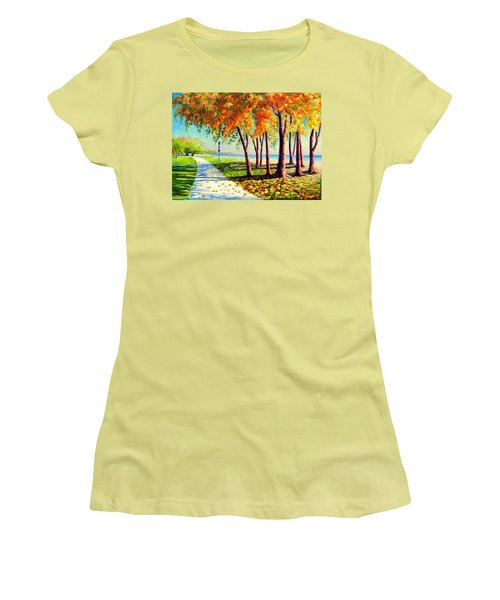 Autumn In Ontario Women's T-Shirt (Athletic Fit)