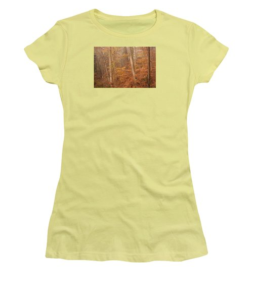 Women's T-Shirt (Junior Cut) featuring the photograph Autumn Mist by Patrice Zinck