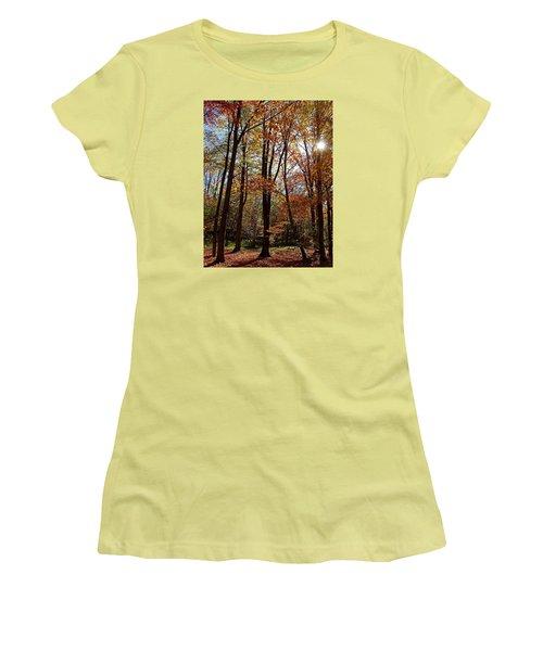 Autumn Picnic Women's T-Shirt (Junior Cut) by Debbie Oppermann