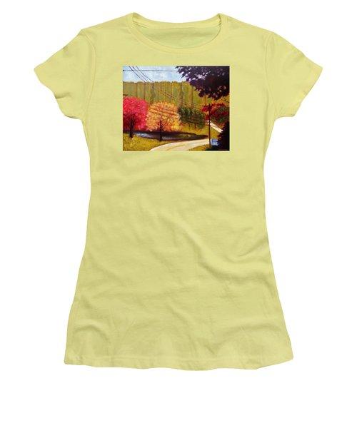 Autumn Slopes Women's T-Shirt (Junior Cut) by Jason Williamson