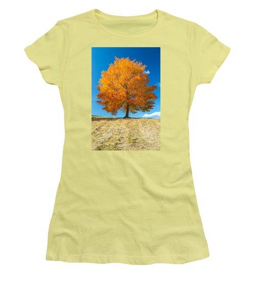 Autumn Tree - 1 Women's T-Shirt (Athletic Fit)