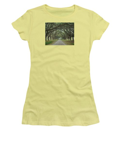 147706-avenue Of The Oaks  Women's T-Shirt (Athletic Fit)