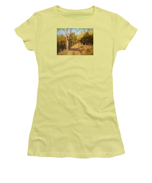 Back Road Women's T-Shirt (Junior Cut) by Alan Lakin