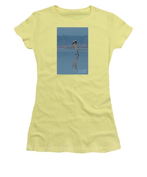 Bald Eagle Pair Women's T-Shirt (Junior Cut) by Paul Rebmann