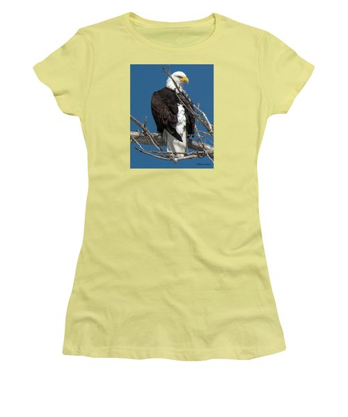 Bald Eagle Putting On The Ritz Women's T-Shirt (Athletic Fit)