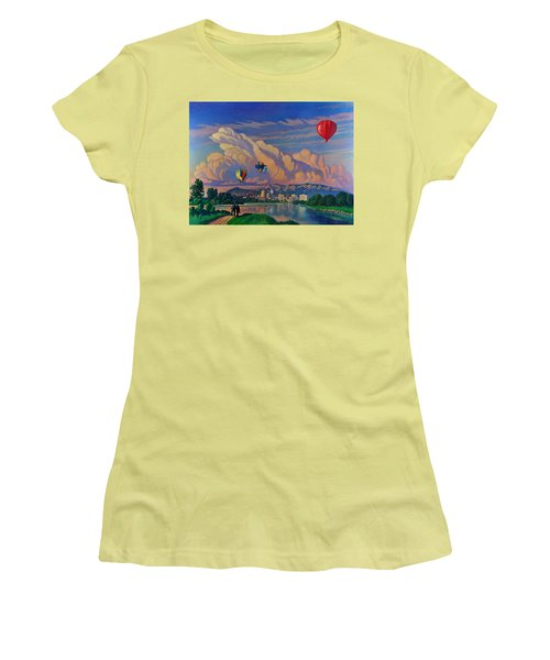 Ballooning On The Rio Grande Women's T-Shirt (Athletic Fit)
