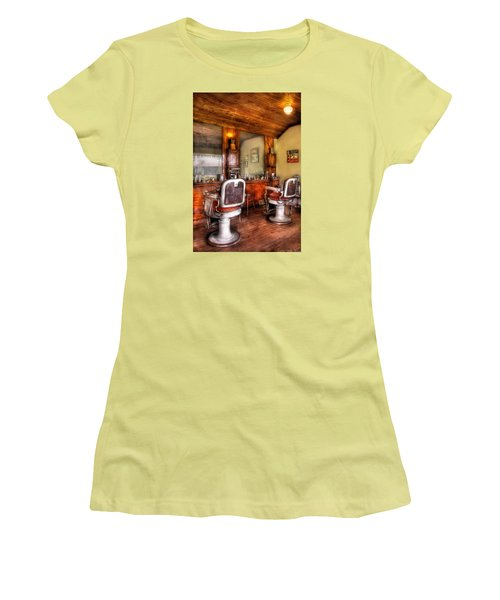 Barber - The Barber Shop II Women's T-Shirt (Junior Cut) by Mike Savad