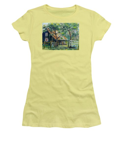 Barn Quilt Women's T-Shirt (Junior Cut) by William Reed