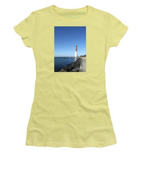 Barnegat Light - New Jersey Women's T-Shirt (Junior Cut) by Christiane Schulze Art And Photography