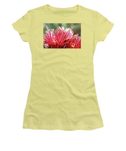 Barrel Cactus Flower Women's T-Shirt (Athletic Fit)