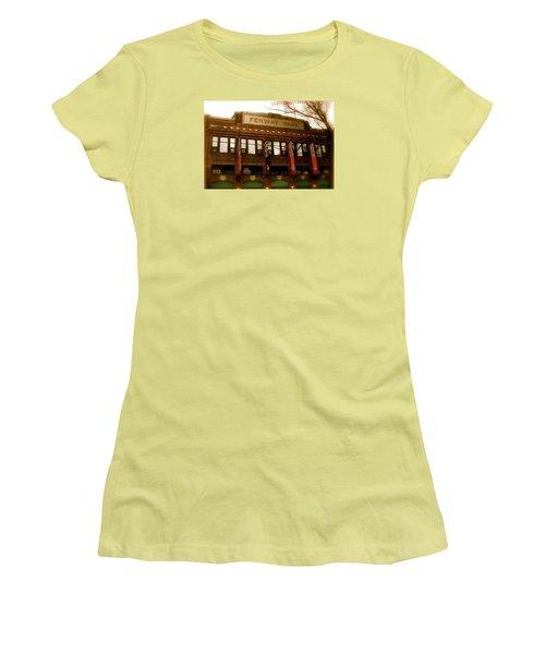 Baseballs Classic  V Bostons Fenway Park Women's T-Shirt (Junior Cut)