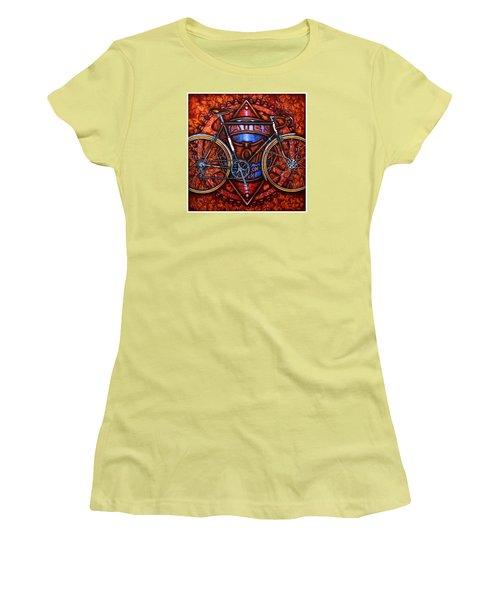 Bates Bicycle Women's T-Shirt (Junior Cut) by Mark Jones