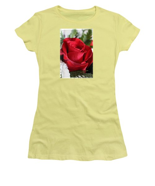Be Inspired With Flowers And Art Women's T-Shirt (Junior Cut) by Ella Kaye Dickey