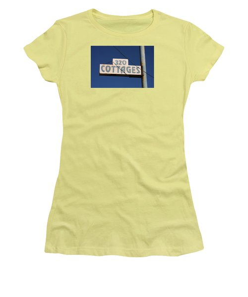 Beach Cottages Women's T-Shirt (Athletic Fit)