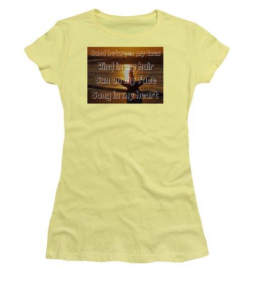 Beach Life Women's T-Shirt (Junior Cut) by Nikki McInnes
