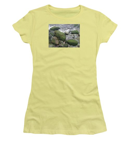 Beach Rocks Women's T-Shirt (Junior Cut) by Robert Nickologianis