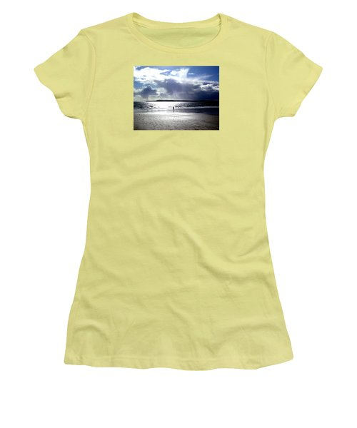 Lone Beach Walker Women's T-Shirt (Athletic Fit)