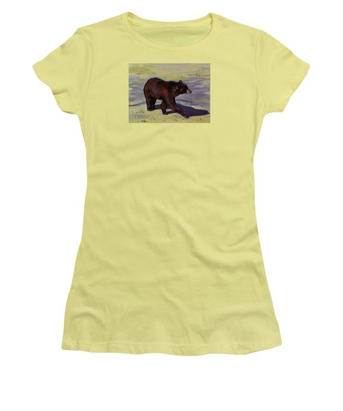 Bear Shadows Women's T-Shirt (Junior Cut) by Pattie Wall