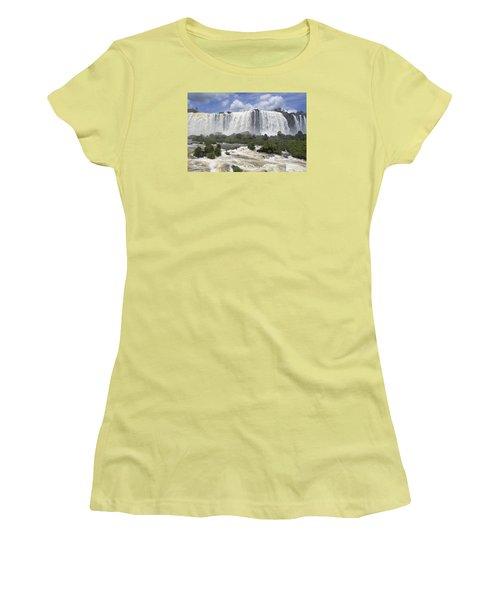 Beautiful Iguazu Waterfalls  Women's T-Shirt (Athletic Fit)