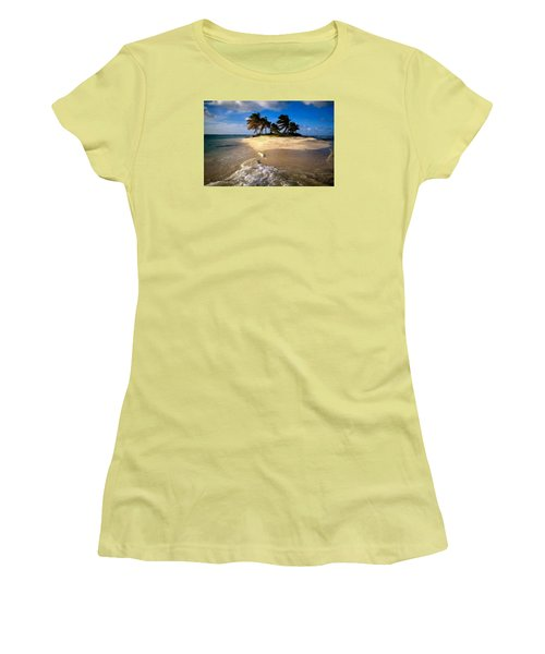 Women's T-Shirt (Junior Cut) featuring the painting Beautiful Island by Bruce Nutting