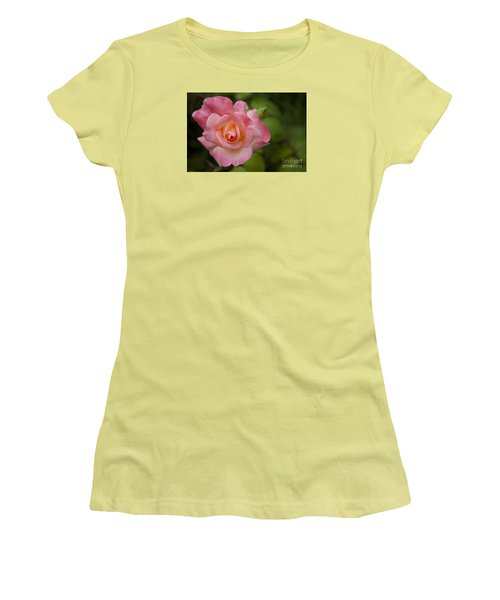 Women's T-Shirt (Junior Cut) featuring the photograph Shades Of Pink And Green by David Millenheft