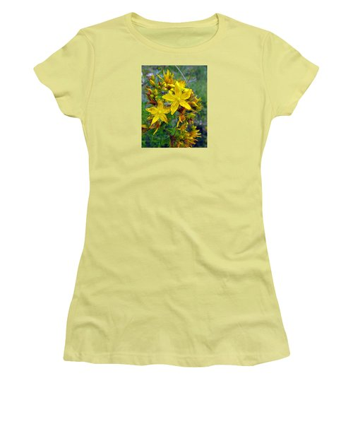 Beauty In A Weed Women's T-Shirt (Junior Cut) by I'ina Van Lawick